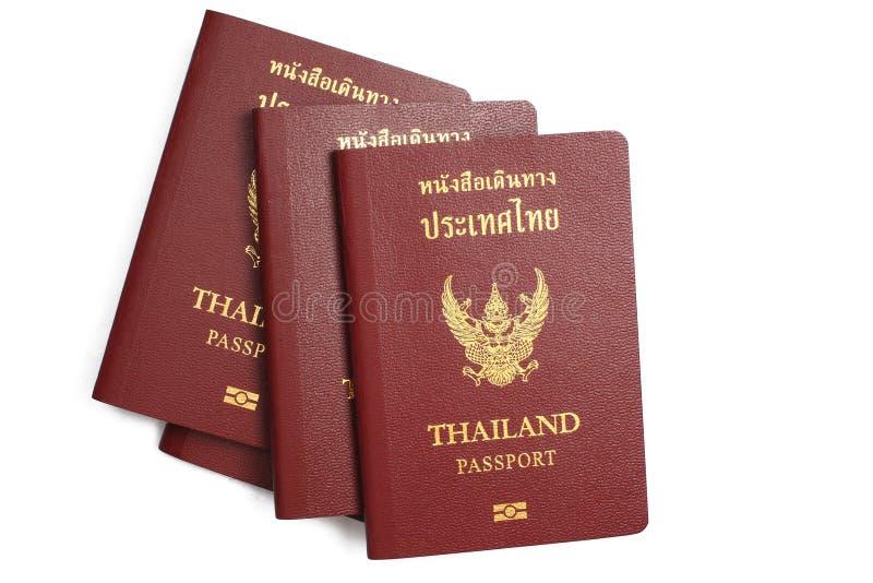 Passport. Thailand passport on white background stock image