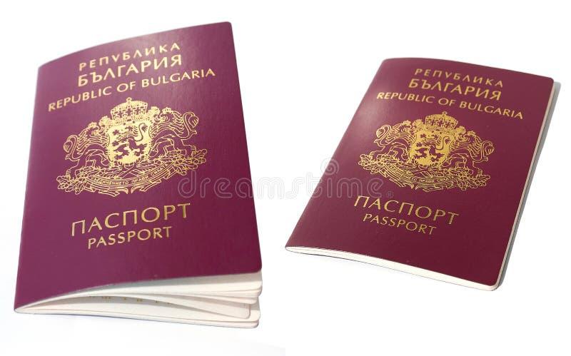 Passport. Bulgarian passport isolated on white background royalty free stock photo