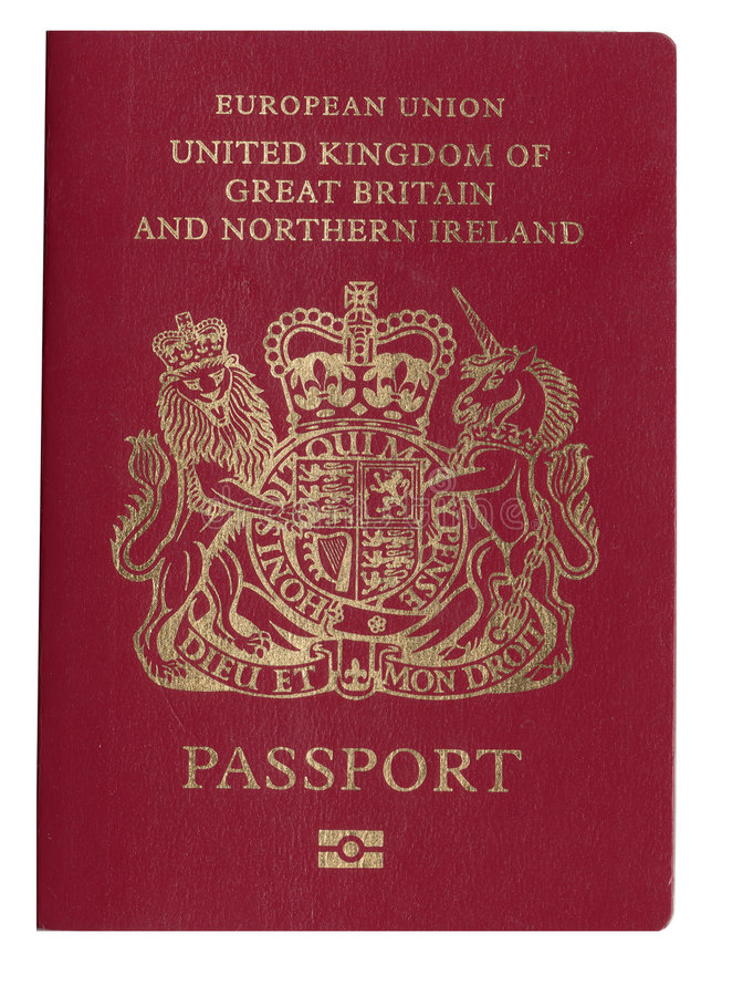 Passport. United kingdom, great britain and northern island passport royalty free stock images