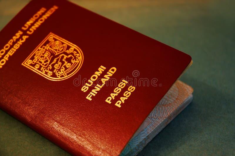 Passport. Finnish passport stock image