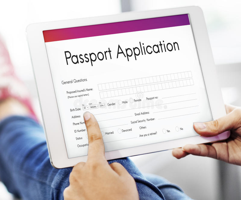 Passport Application Emigration National Border Concept Stock Image