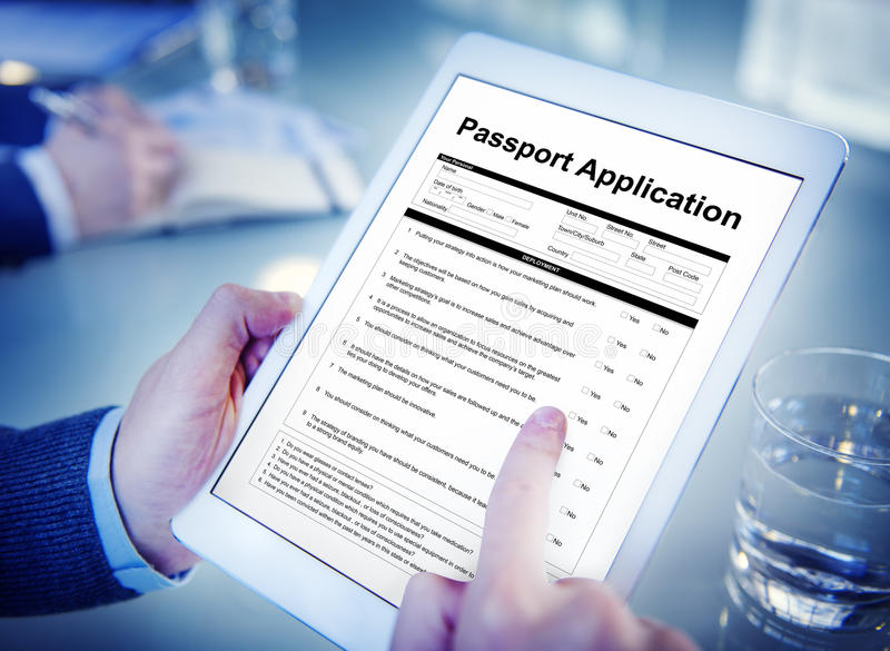 Passport Application Form Filling Concept Stock Image Image Of