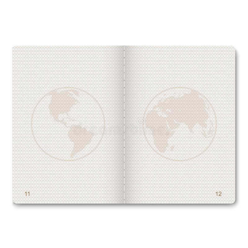 passport blank pages. royalty free illustration