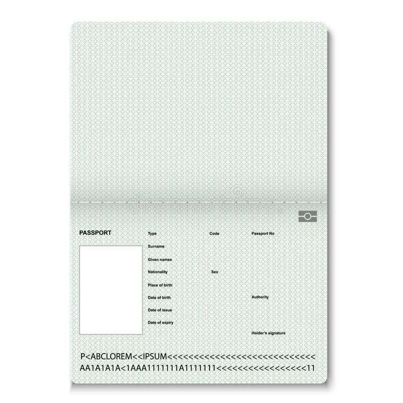 passport blank pages. vector illustration