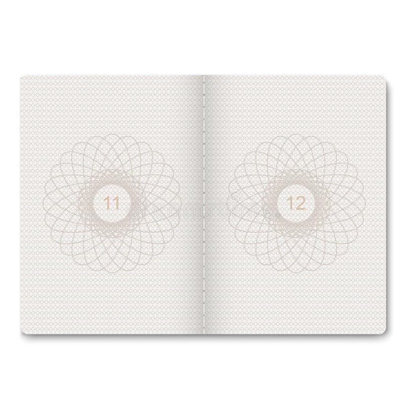 passport blank pages. stock illustration