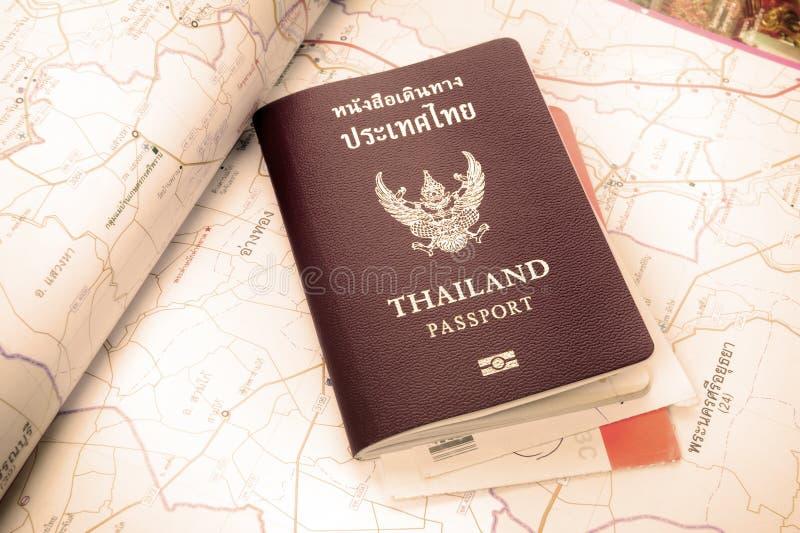 Passport. Closeup Thailand passport on desktop royalty free stock photos