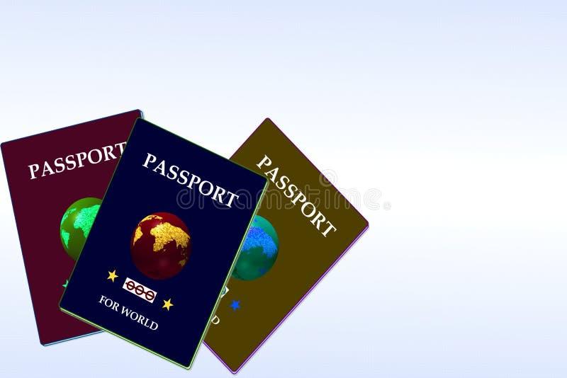 Passport with globe royalty free illustration