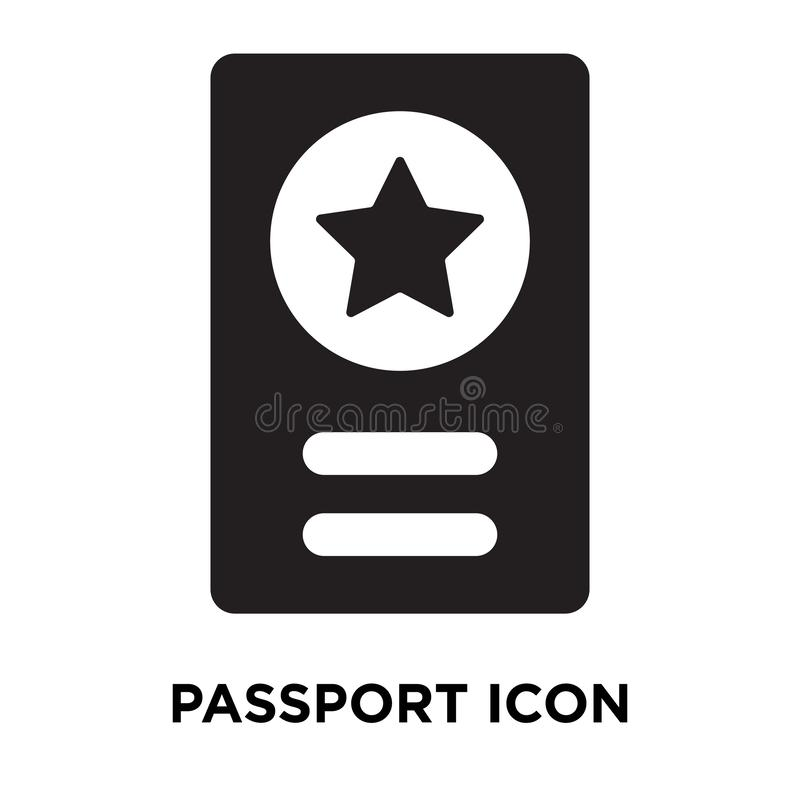 Passport icon vector isolated on white background, logo concept stock illustration