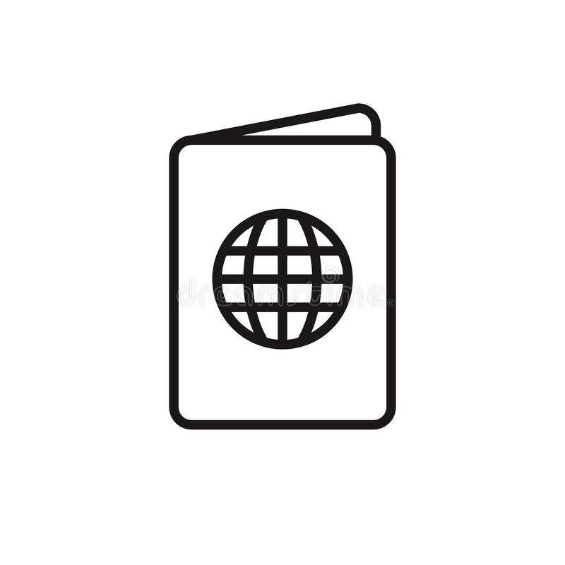 Passport Icon Vector Logo Template royalty free illustration