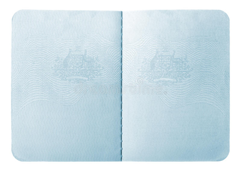 Passport interior pages royalty free stock photography