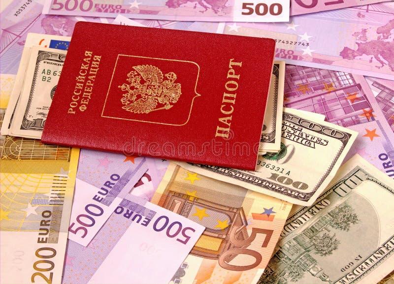 Passport and Money. stock photography
