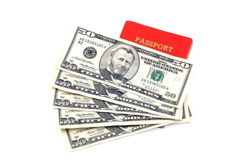 Passport and Money. Singapore Passport and Money royalty free stock images