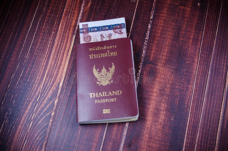 Passport with money. Budget for travel royalty free stock photos