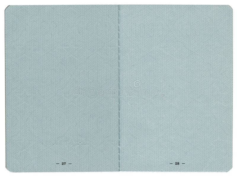 Passport pages. Blank passport pages on white