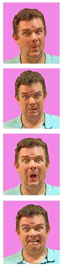 Passport photo kiosk faces vector illustration