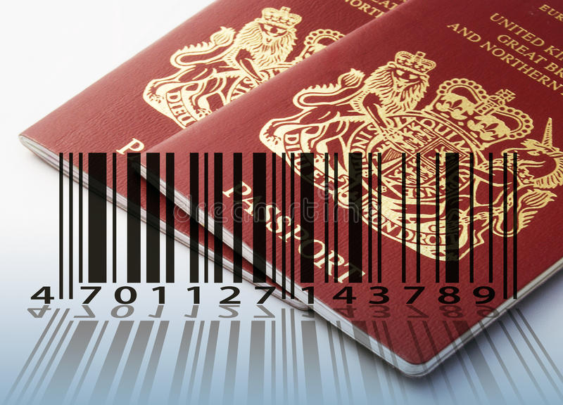 Passport for sale stock illustration