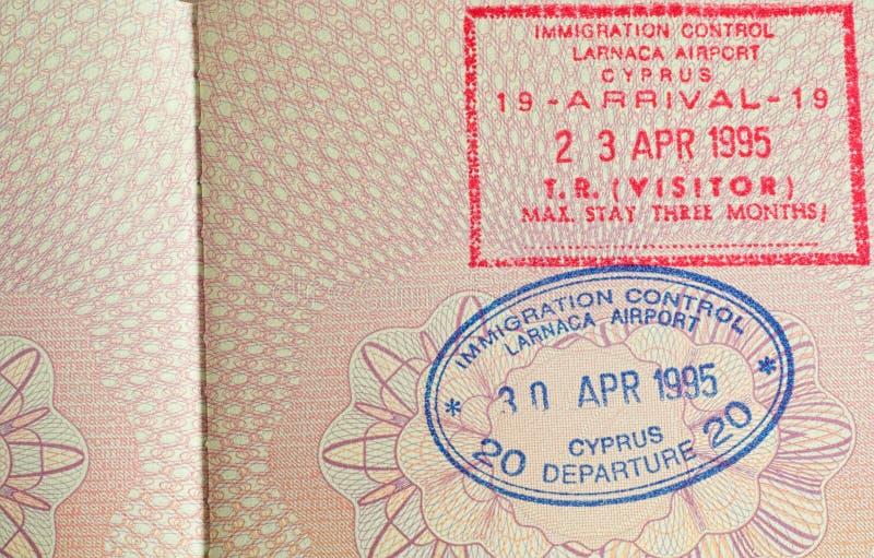 Passport stamp royalty free stock image