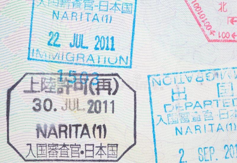 Passport stamp stock image