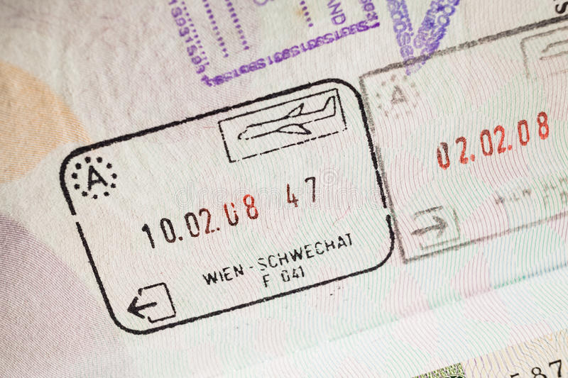 Passport stamp visa for travel concept background, Paris France. Passport stamp visa for travel concept background , Paris France royalty free stock photography