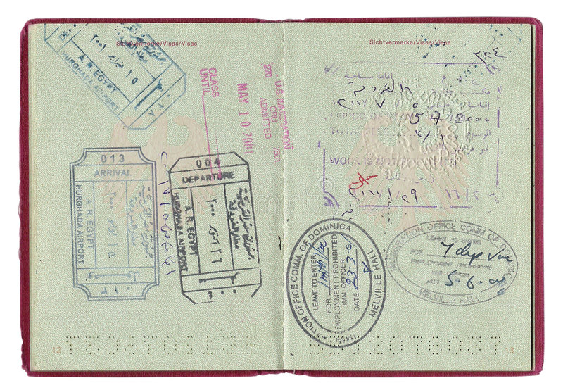 Download Passport stamps stock photo. Image of arab, visa, administration - 3196192