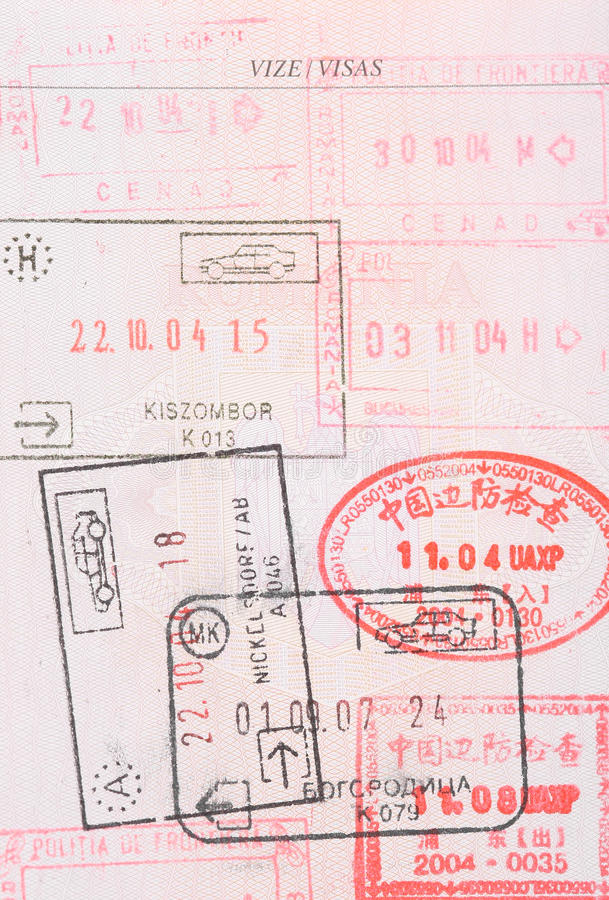 Download Passport stamps visas stock image. Image of business - 21149647