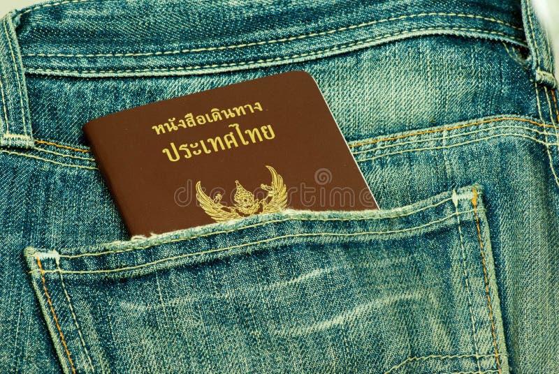 Passport stolen from back pocket Thailand. Back biometric blue border careless carelessness casual close-up closeup control crime criminal customs danger stock photos