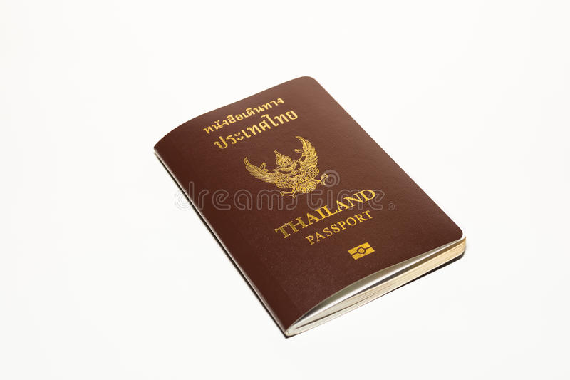 Passport thailand on isolate white background.  royalty free stock photography