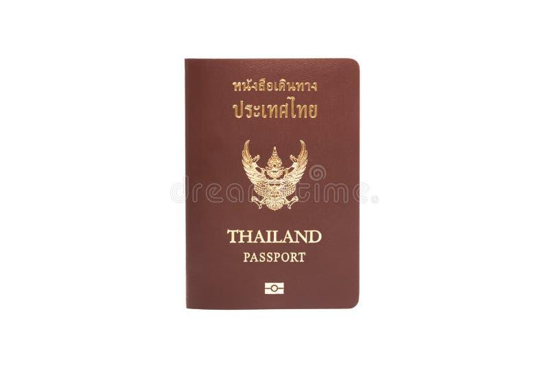Passport. Thailand passport isolated on white background stock photo