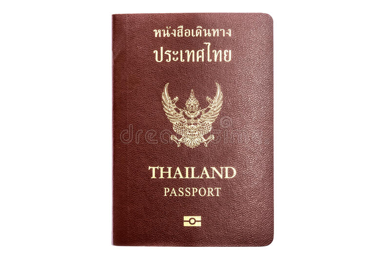Passport of Thailand. Isolated on white background stock photography