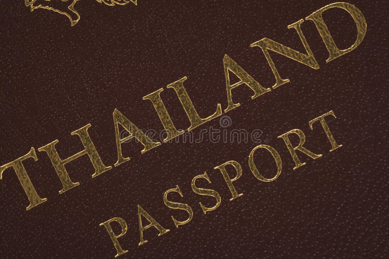 Passport Thailand for travel concept. Background royalty free stock photography