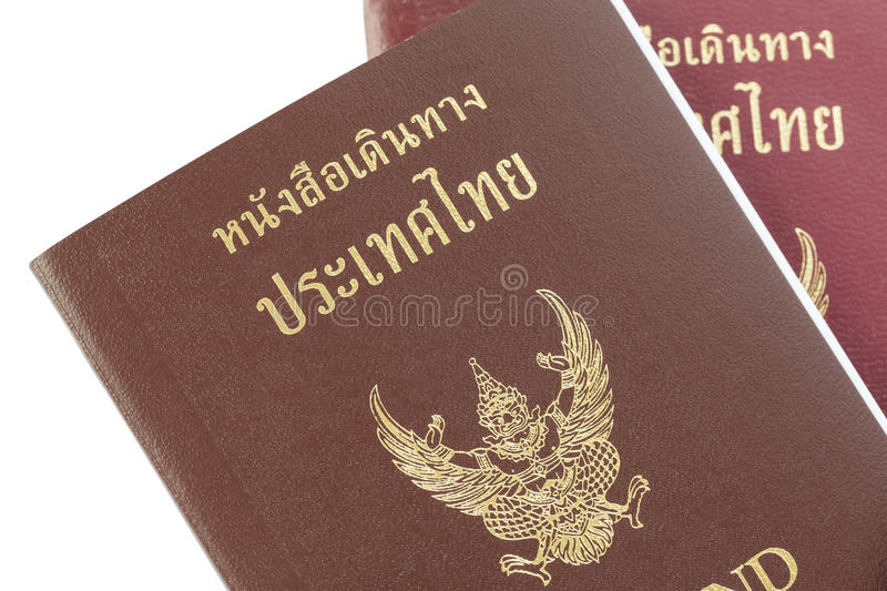Passport Thailand for travel concept background royalty free stock photography