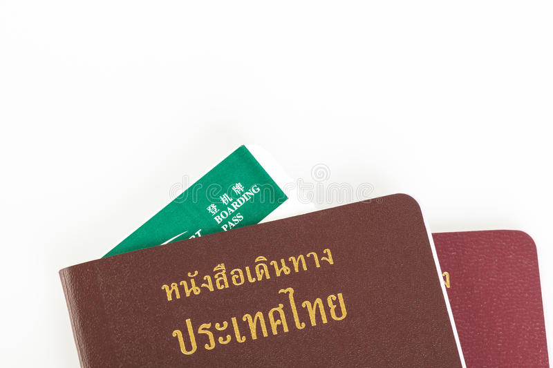 Passport Thailand for travel concept on white. Background royalty free stock image