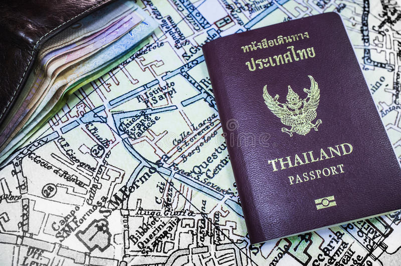Passport Thailand Travel. Passport Thailand Tourist Travel Trip stock photography