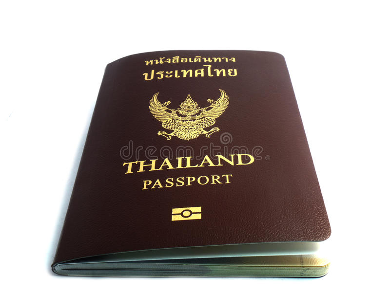 Passport of thailand on white background. Passport of thailand country on white background royalty free stock images