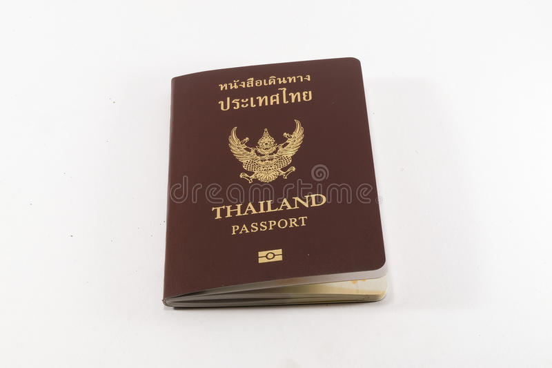Passport of Thailand On a white background stock photos