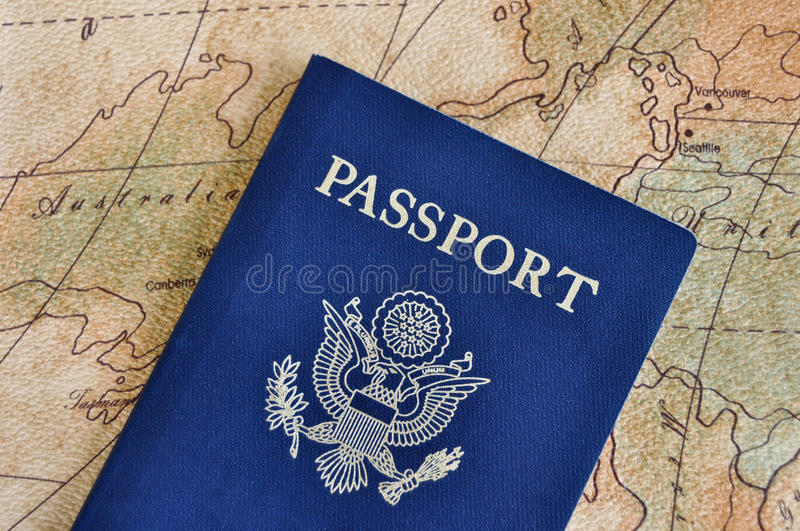 Passport for travel stock images