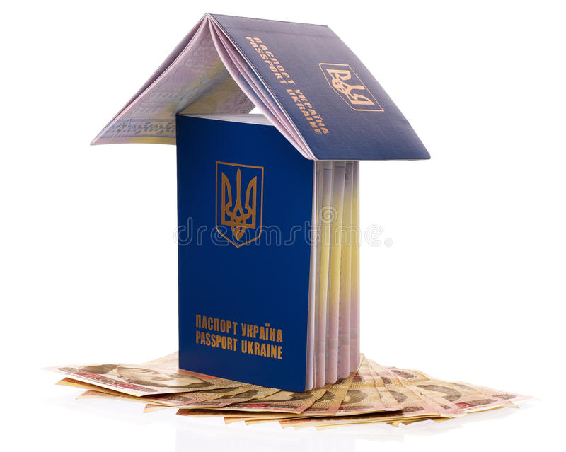 Passport Ukraine Royalty Free Stock Photo