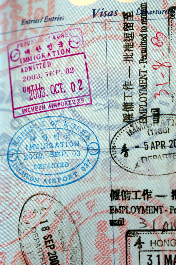 Download Passport Visa Stamps stock photo. Image of tour, stamp - 176988