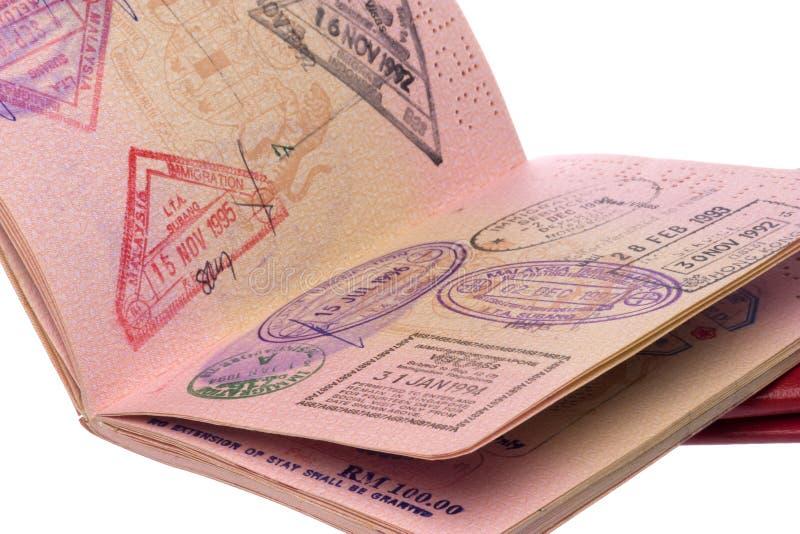 Passport and Visas. Image of passport and visas royalty free stock image