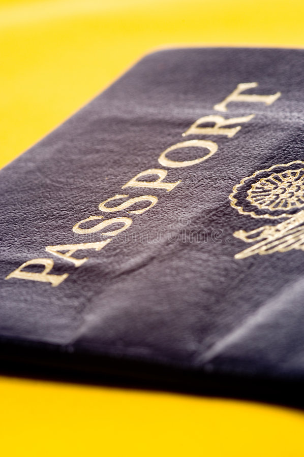 Passport on Yellow royalty free stock images
