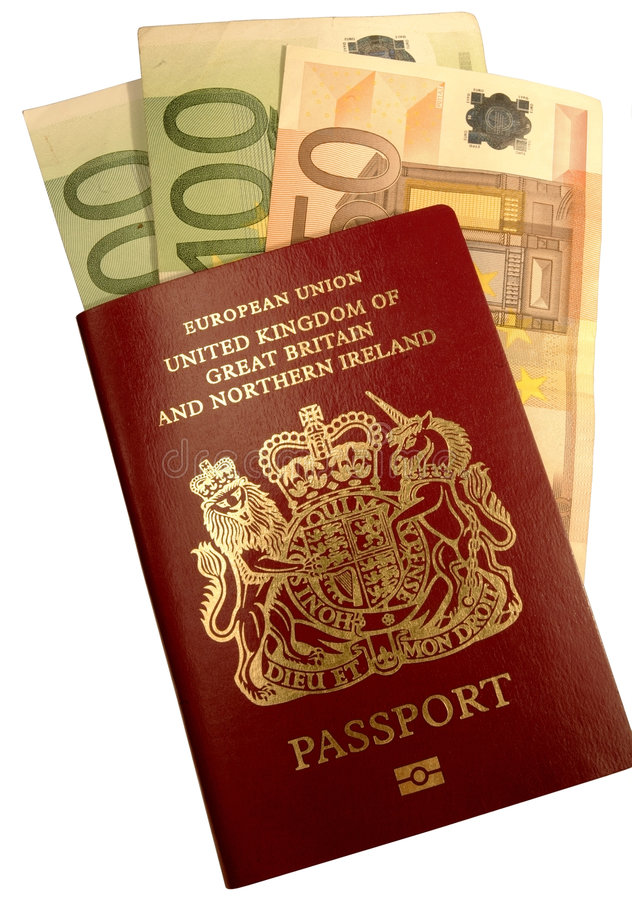 Passport5079euro photos stock