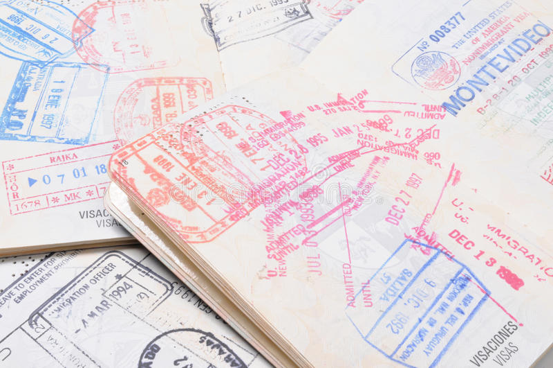 Passports royalty free stock photos