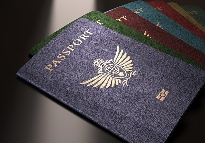 passports imagens de stock royalty free