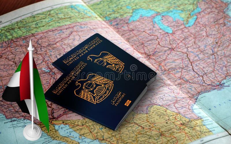 Passports of United Arab Emirates stock photos