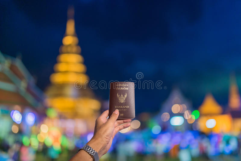 Passreise Wat Phra That Hariphunchai, Lamphun Thailand lizenzfreies stockbild