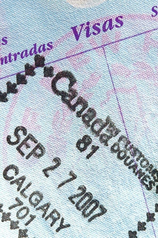 passstämpel royaltyfri bild