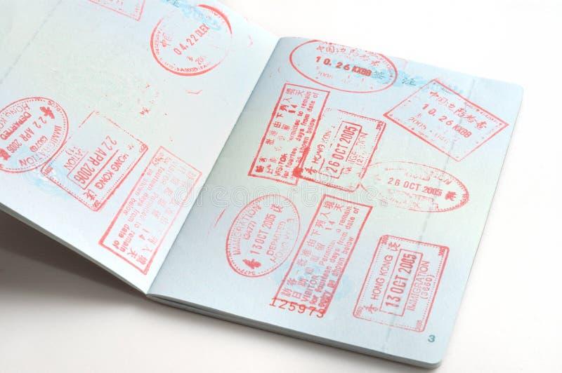 passstämplar royaltyfri bild