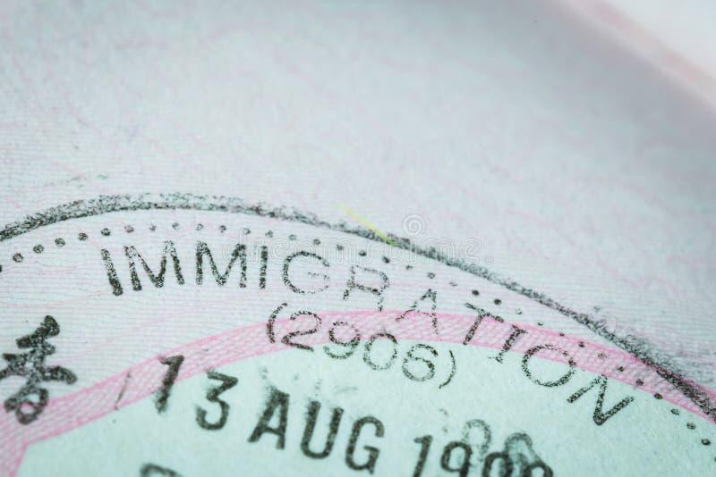 Passstempelvisum für Reisekonzept stockfoto