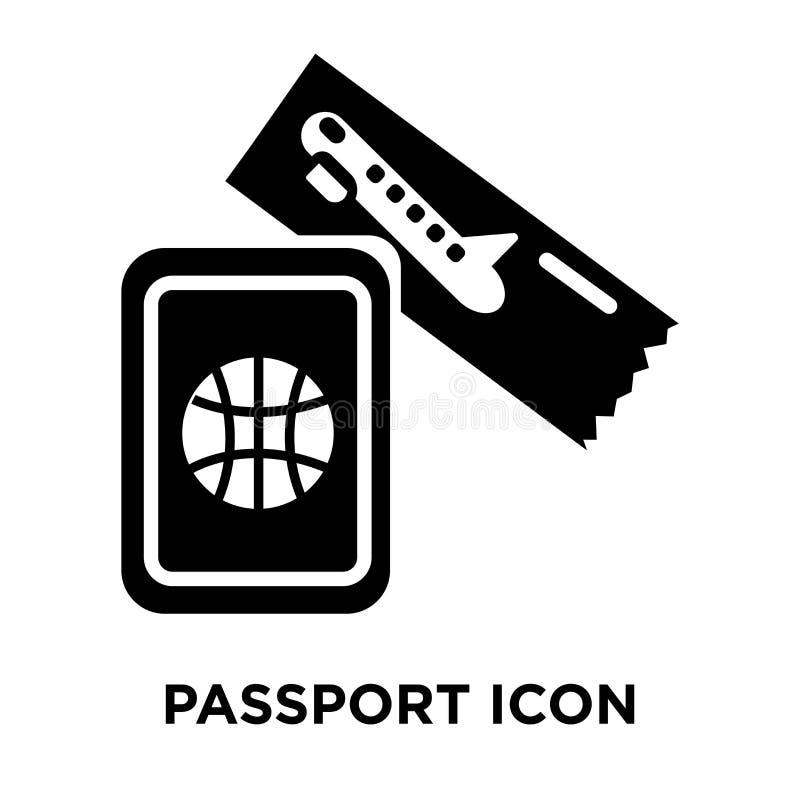 Passsymbolsvektor som isoleras på vit bakgrund, logobegrepp stock illustrationer