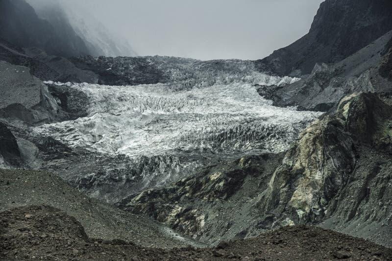 Passu-Gletscher, Pakistan lizenzfreies stockbild